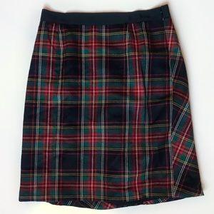 J. Crew Classic Tartan Plaid Virgin Wool Skirt